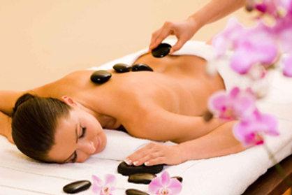 Massage aux Pierres Chaudes 1h