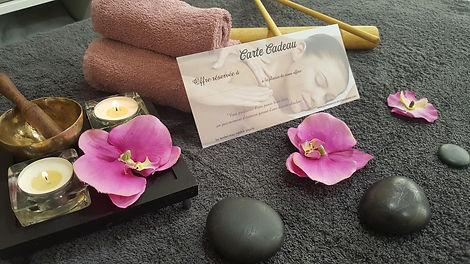 Carte cadeau, Quintessence, Brive, Elodie Corrèze, Chèque cadeau, idée cadeau, massage brive, soin visage, soin corps, détente, relaxation, lâcher prise, offrir