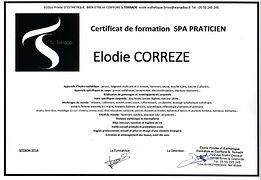 diplôme - spa - massage - bien-être détente relaxation californien suédois reiki africain lomi lomi shiatsu balinais coréen drainage