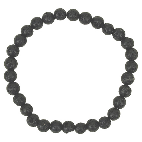 Bracelet en Pierre de Lave Noire