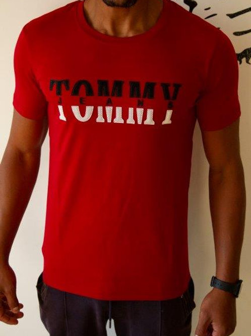 High Quality TOMMY T-Shirt for men 100% Cotton