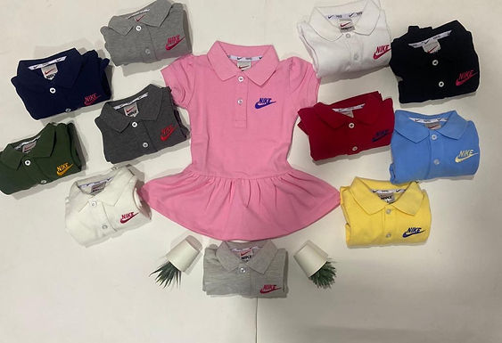 Nike dress for Girls from 1 year to 10 years 100% Cotton