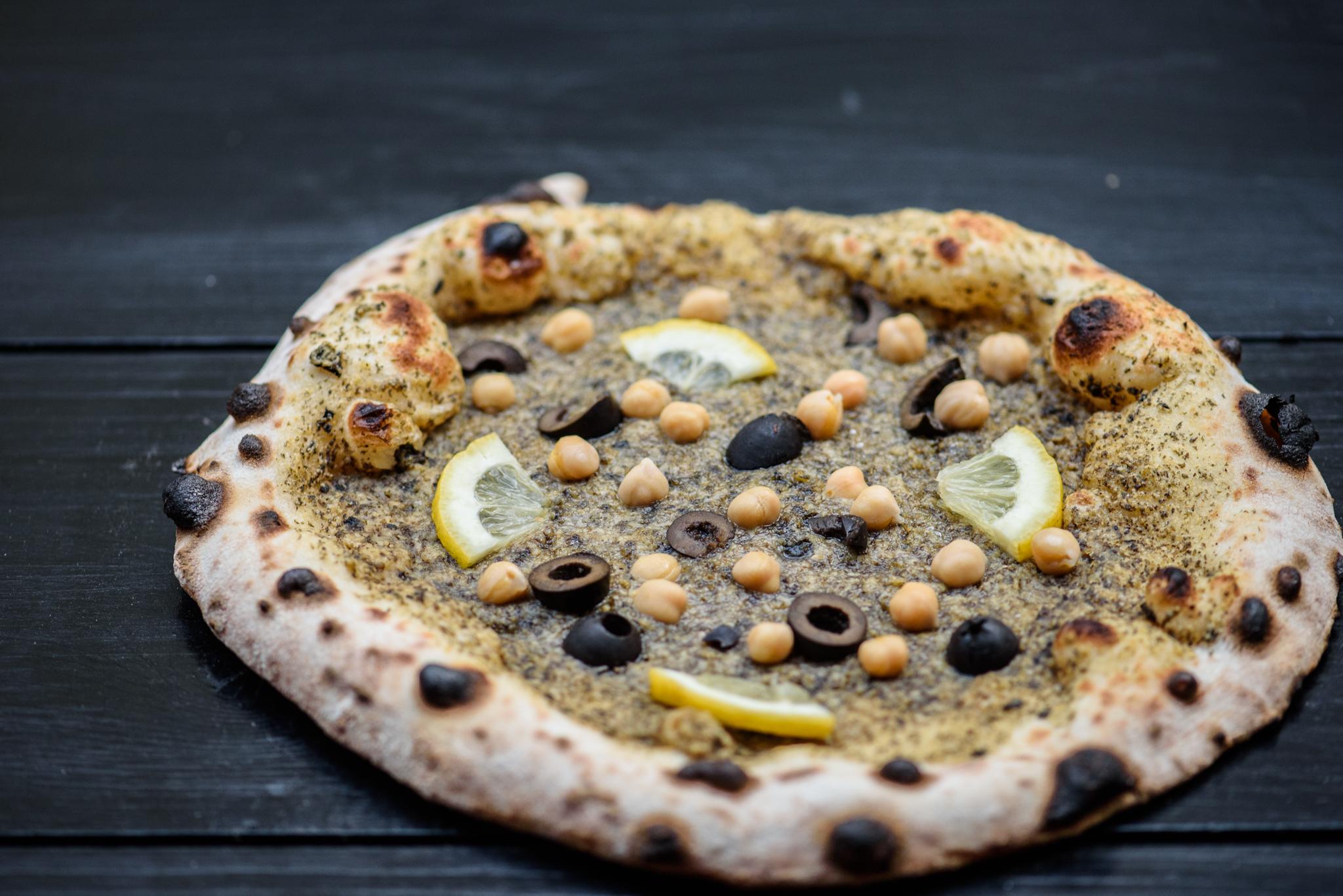 étel fotó; egy pizza