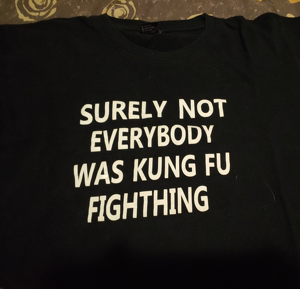 Surely not everybody was kung fu fighting?