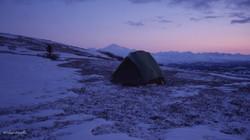 C'est ici avec en arrière plan le mont McKinley qu'a été établi mon camp.