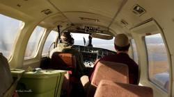 L'avion me ramène vers Kotzebue. Nous sommes deux passagers.