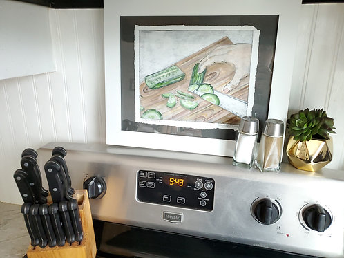 """""""What's for Dinner?"""" Collograph Print"""