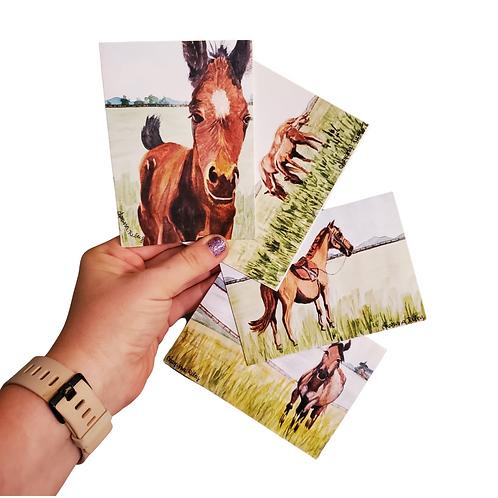 Set of 4 Ky Horses Stationary