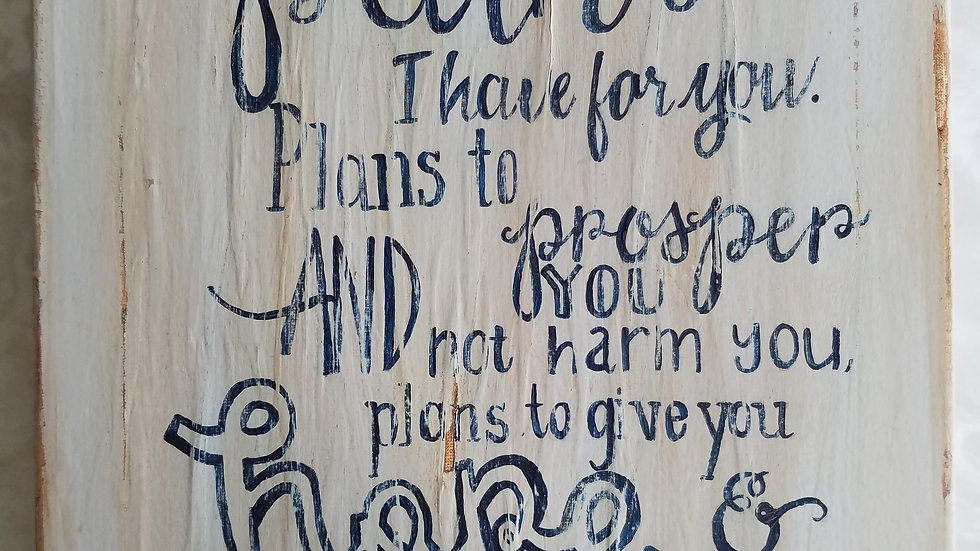 Vintage Sign- Quote or Scripture, Acrylic Painting