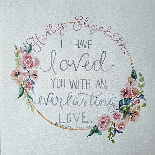 Favorite Quote or Scripture in Watercolor