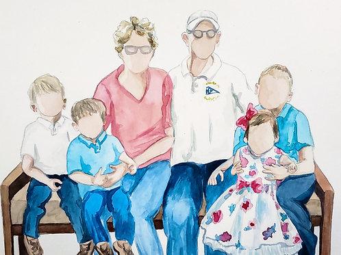 Stylized, Faceless Family Portraits