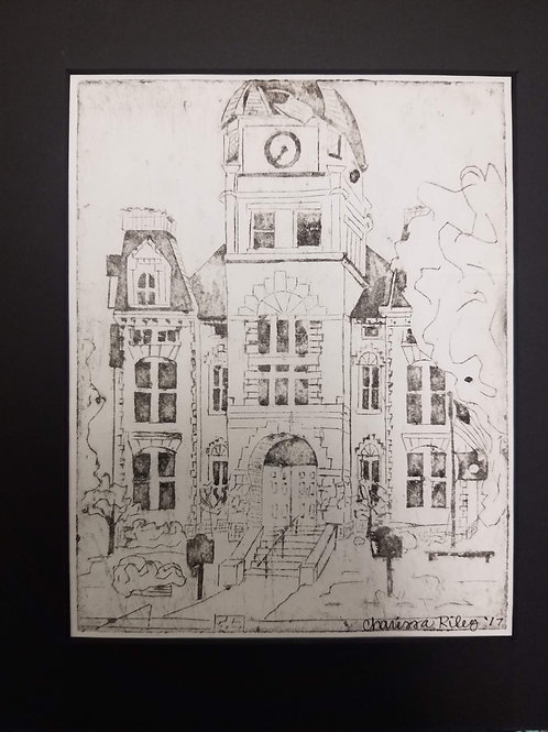 """""""Old Courthouse"""" Collograph Print"""