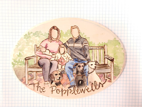 Woodburned and Painted Plaque