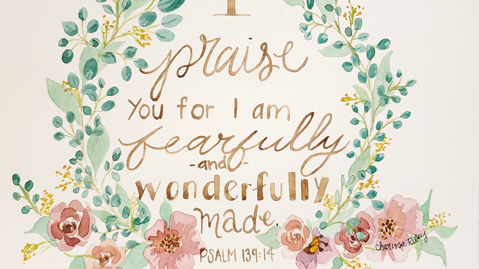 Psalm 139:4- Watercolor