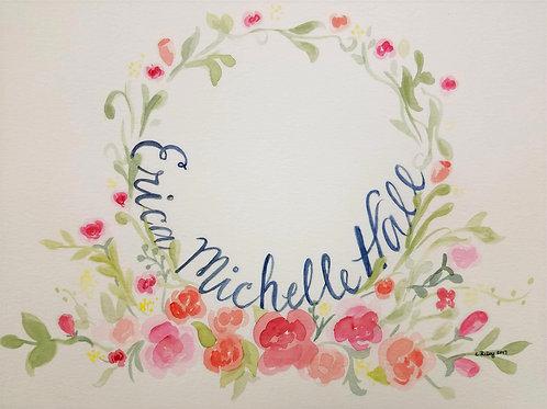 Watercolored Name Art