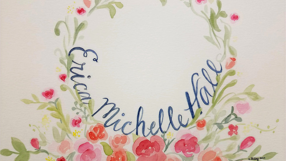 Watercolored Name Art