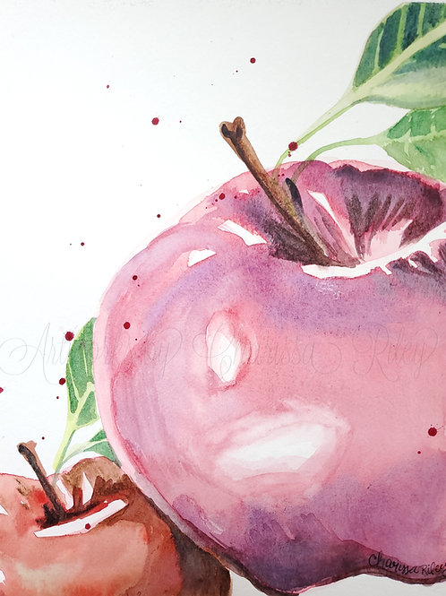 """An Apple A Day"" -Watercolor"