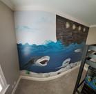 Preteen Shark Mural