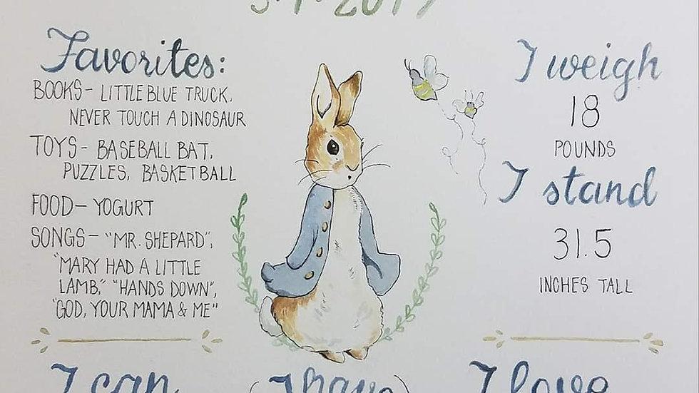 Watercolor Birthday Boards