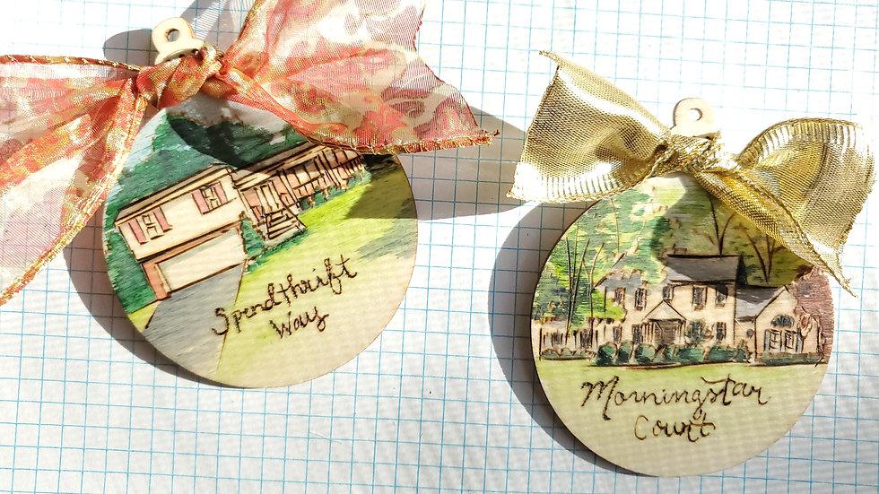 Custom House Portrait Ornament