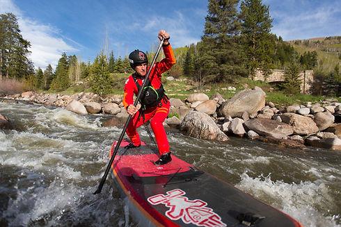Whitewater SUP Lesson  Colorado  Dan Gav