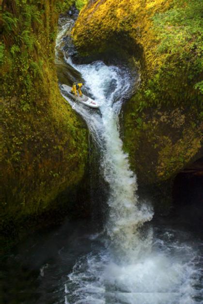 Whitewater SUP Waterfall| Dan Gavere