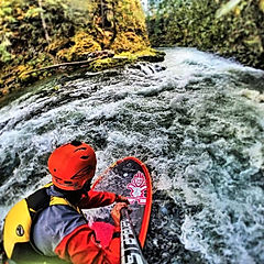 whitewater paddleboarding