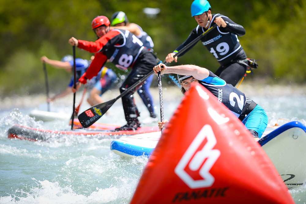 Finding a line in the SUP Cross Race Finals