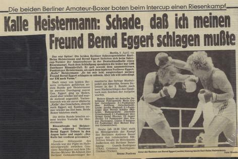 Kampf mit Bernd Eggert