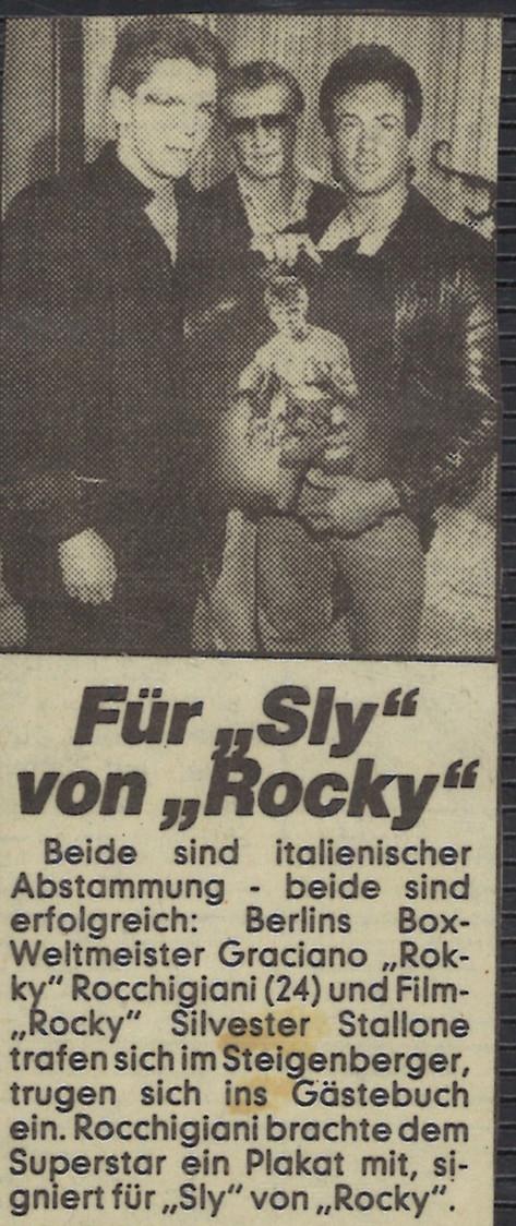 Mit Graciano 'Rocky' Rocchigiani und Sylvester 'Rocky' Stalone