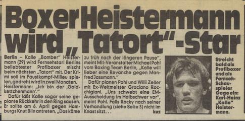 Kalle als Tatort Star