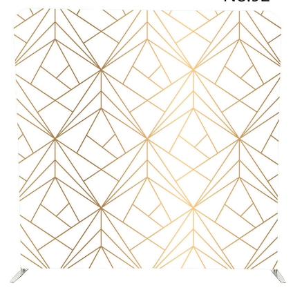 Geo Pillowcase Gold & white