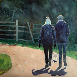 Friendship - oil on canvas 30 x 30cm Ale