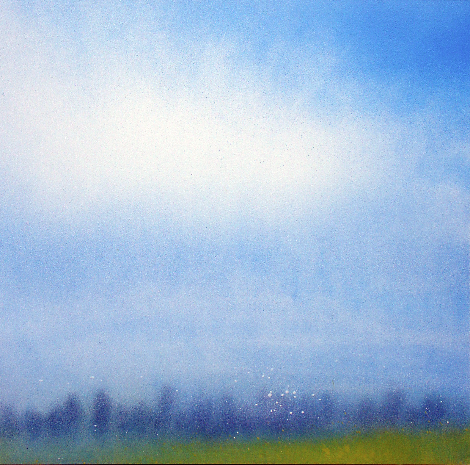 Tree Line With Cloudy Sky 2016