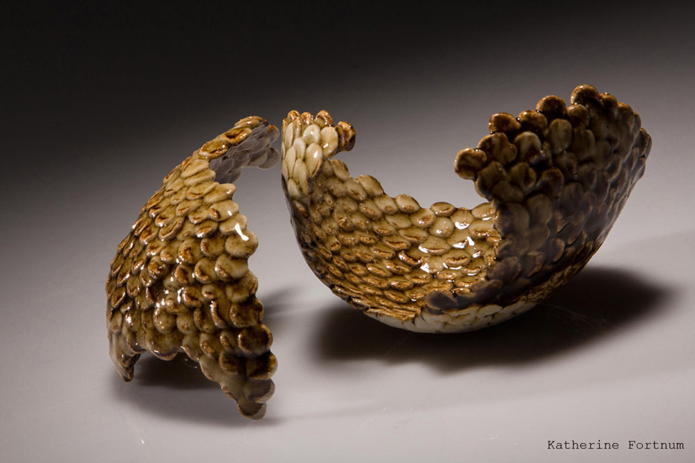 Natural Series #5, handbuilt stoneware, 2013,  11x 6x 6cm  and 10x 7x 6 cm Katherine Fortnum, photog