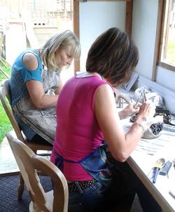 Bird feeder, group workshop - at Katherine Fortnum Ceramics