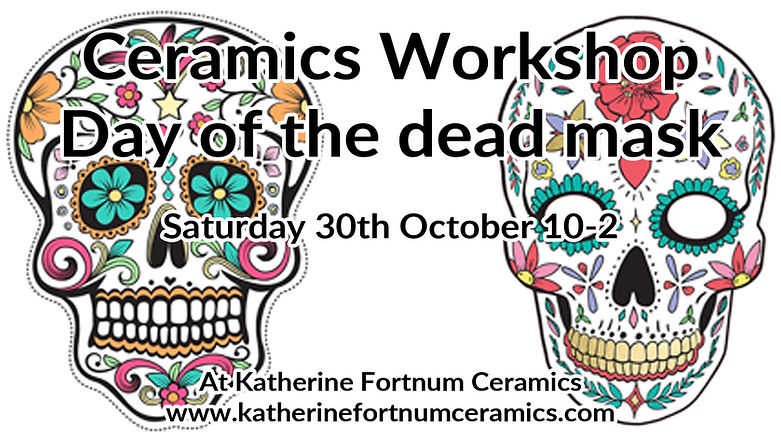 day of the dead mask at Katherine Fortnum Ceramics.jpg