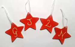 Commissioned Christmas Star decorations