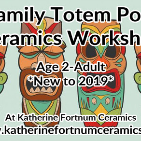 NEW 2019 Family Ceramics Workshops