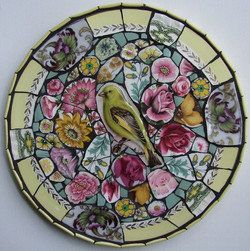 Greenfinch & Roses