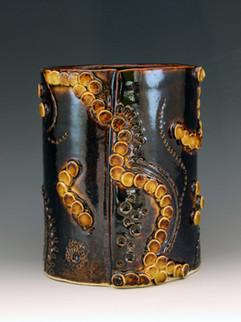 Inticate series vase #1, White Stoneware
