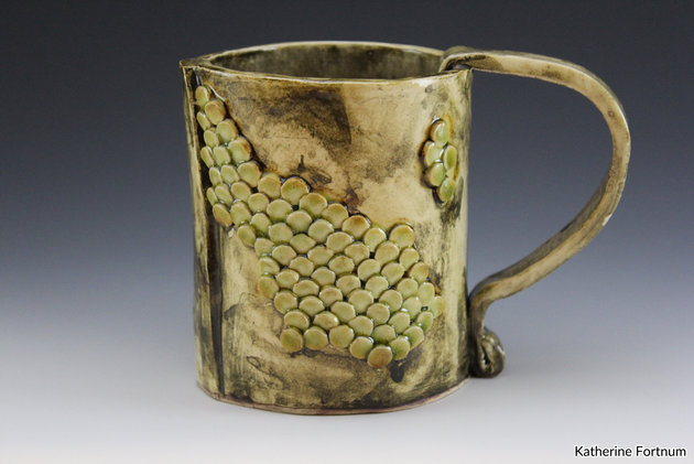 Mug 9, white stoneware, by Katherine For