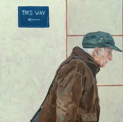 This Way - Oil on board 30 x 30cm alex C