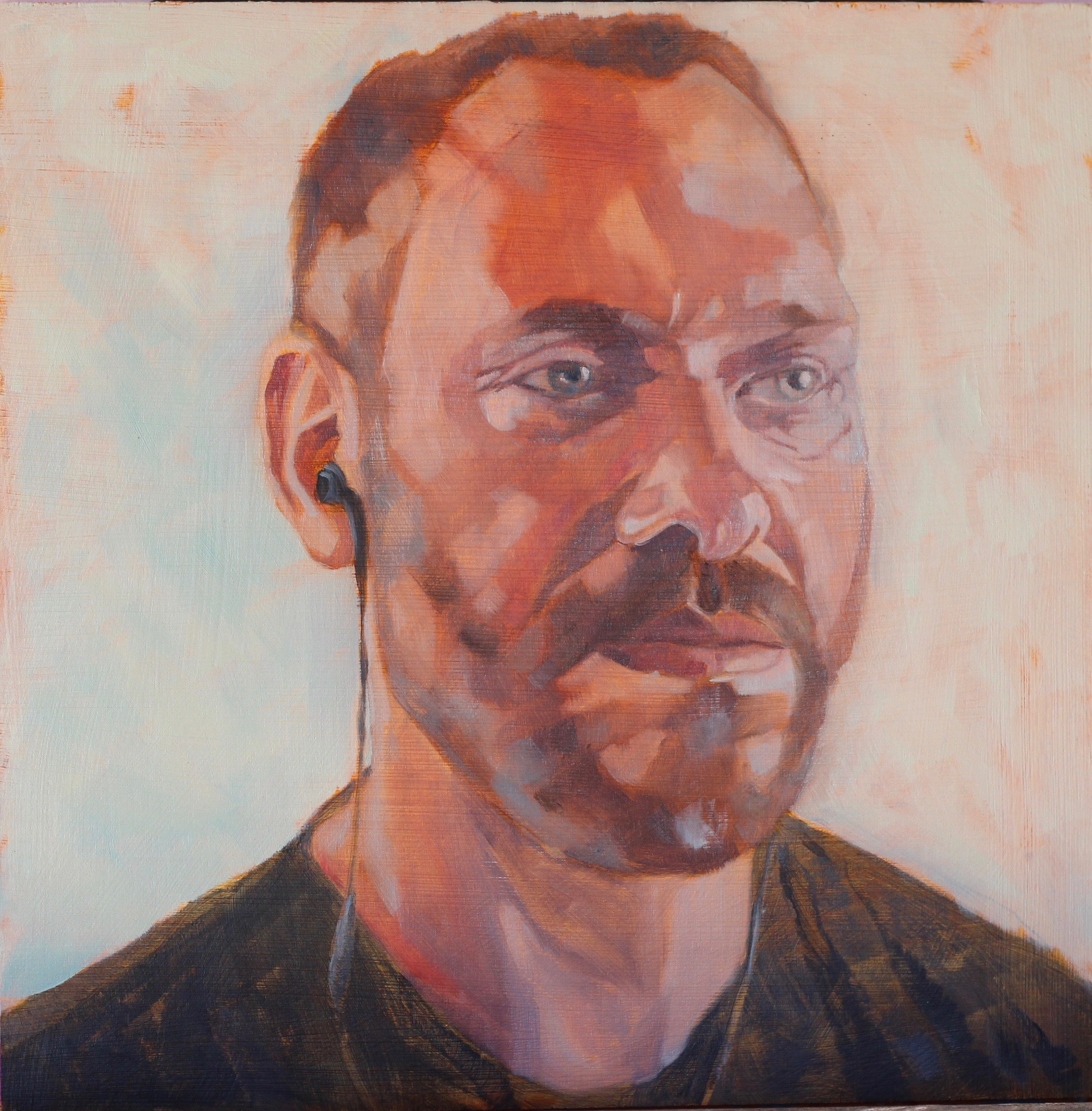 Will Young - oil on board 10 x 10in Alex