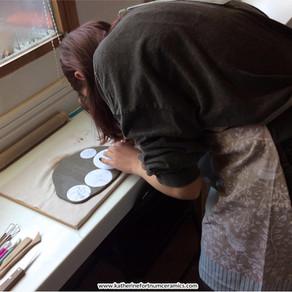 Budding teenage artist