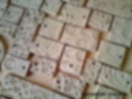 Test tile making by Katherine Fortnum