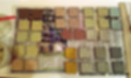 Coloured slip making at Katherine Fortnum Ceramics Workshop, Market Harborough, Leicestershire