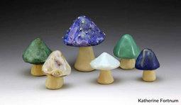 Mushroom set 3,  Glazed Stoneware, by Katherine Fortnum 2016, photograph by Katherine Fortnum