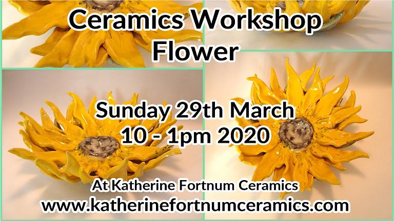 Flower ceramics workshop