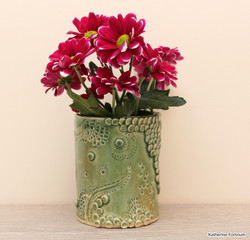 Intricate series short vase